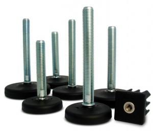 3.1 - Pés Niveladores Com perno em aço zincado para CONVEYORS LINE (ZINC)
