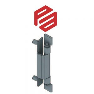 1K-435 – PA6410352-000 CONCEALED HINGE – ZINC PLATED OR STAINLESS STEEL – 90º