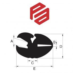 1L-410 – PERFIL DE BORRACHA PARA JANELAS – EPDM ou PVC